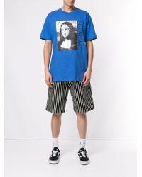 Supreme Blue Mona Lisa Print T-shirt for men