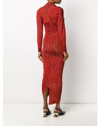 Robe froncée Damaris Preen By Thornton Bregazzi en coloris Red