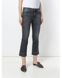 7 For All Mankind Gray Cropped Slim Fit Jeans