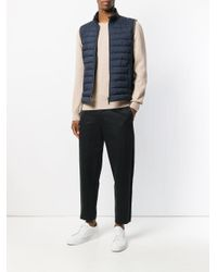 Herno - Blue Quilted Down Gilet for Men - Lyst