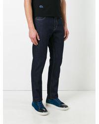 Stella McCartney Blue Raw Straight Leg Jeans for men