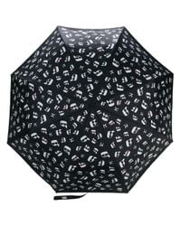 Karl Lagerfeld Black K/ikonik Printed Umbrella