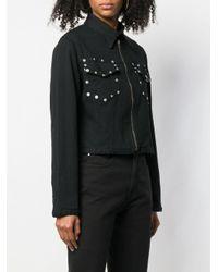 Veste en jean à poches à rivets Fiorucci en coloris Black