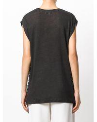 IRO - Gray Tie Detail T-shirt - Lyst