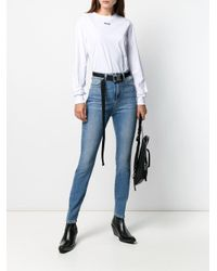 MSGM Blue Skinny-Jeans mit Logo-Print