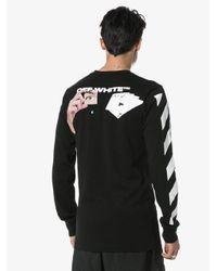 Off-White c/o Virgil Abloh T-shirt Met Kaart Print in het Black voor heren