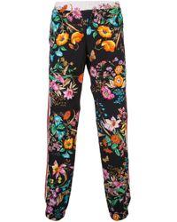Pantalones de chándal con motivo floral Gucci de hombre de color Black