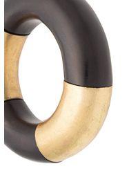 Monies - Black Chunky Sectional Bracelet - Lyst