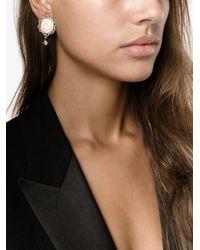 Dolce & Gabbana - Metallic Clock Clip-on Earrings - Lyst