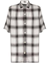 Camisa oversize a cuadros AllSaints de hombre de color Black
