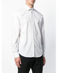 Lanvin White Vertical Stripes Shirt for men