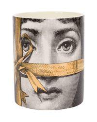 Fornasetti Profumi Gray Regalo Gold Candle