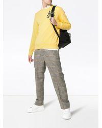 メンズ Alexander McQueen ロゴエンブロイダリー スウェットシャツ Yellow