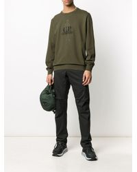 メンズ C P Company ロゴ スウェットシャツ Green