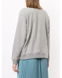 Tu Es Mon Tresor デコラティブ スウェットシャツ Gray