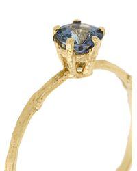 Alex Monroe - Metallic Pale Blue Sapphire Eyebright Ring - Lyst
