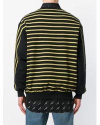 Balenciaga Black Striped Oversize Sweatshirt for men