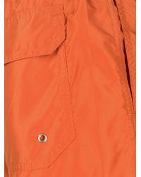 Nos Beachwear Klassische Badeshorts in Orange für Herren