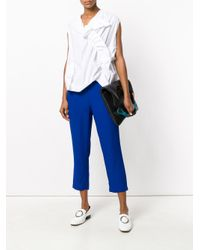 Marni White Draped Jersey Top