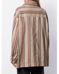 Chemise rayée à col bénitier Acne en coloris Multicolor