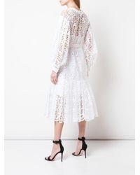 Carolina Herrera フローラル ドレス White