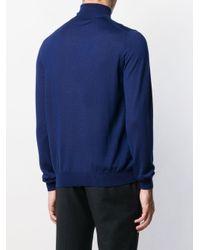 メンズ Fay タートルネック セーター Blue