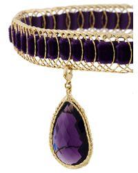 Rosantica Purple Leva Pendant Cage Choker