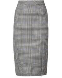 45cf83a98 Lyst - Theory Windowpane Check Skirt in Black