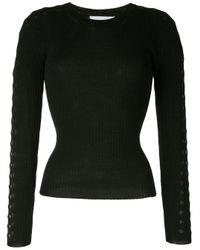 Jonathan Simkhai Black Perforierter Pullover