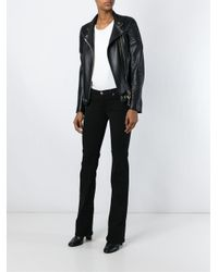 7 For All Mankind - Black Slim Bootcut Jeans - Lyst
