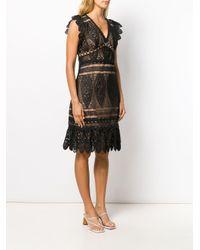 Vestido festoneado con encaje MICHAEL Michael Kors de color Black