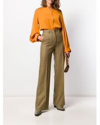 Blusa con espalda fruncida Vince de color Orange