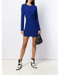 P.A.R.O.S.H. シャーリング ミニドレス Blue