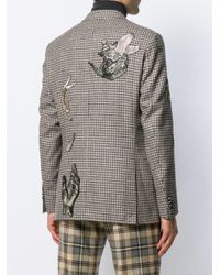 メンズ Etro チェック ジャケット Gray