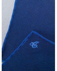 Carré de poche à logo imprimé Canali pour homme en coloris Blue
