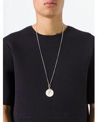 Ann Demeulemeester Metallic Bird & Disk Pendant Necklace for men