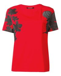 Neil Barrett フローラル Tシャツ Red