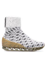 Bernhard Willhelm White X Camper Himalayan Sock Boots