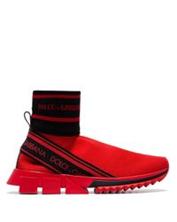 Dolce & Gabbana ソレント ソックススニーカー Red