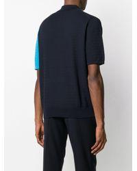 メンズ Paul Smith カラーブロック ポロシャツ Blue