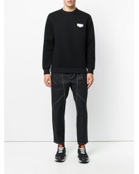 Givenchy - Black Logo Plaque Sweatshirt for Men - Lyst