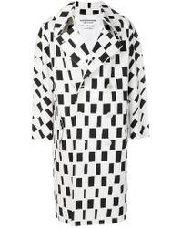 Manteau à boutonnière croisée Junya Watanabe en coloris Black