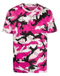 Camiseta VLTN Valentino de hombre de color Pink