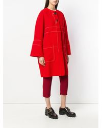 Marni Red Cocoon Coat