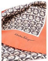 Ferragamo ガンチーニ スカーフ Orange