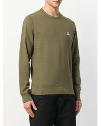 C P Company - Green Crew Neck Sweater for Men - Lyst
