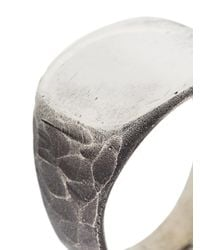 Henson - Gray Carved Signet Ring - Lyst