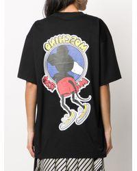 T-shirt con stampa di Moschino in Black