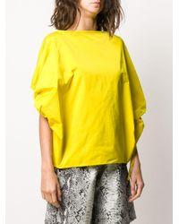 Blusa de manga balloon N°21 de color Yellow