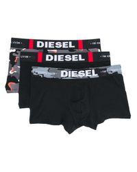 Set di 3 boxers UMBX-Damien di DIESEL in Black da Uomo